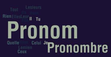 pronombres en frances