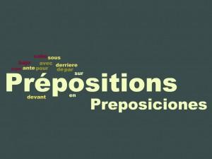 preposiciones en frances